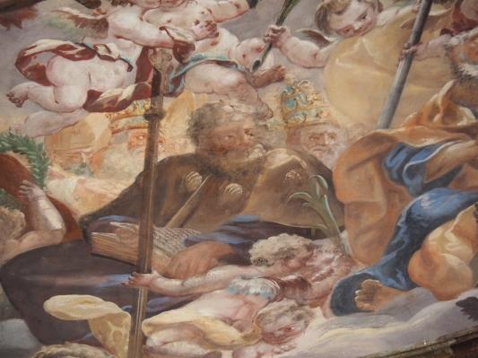 Kreuzkirche, Kuppelfresko: Jakobus der Ältere