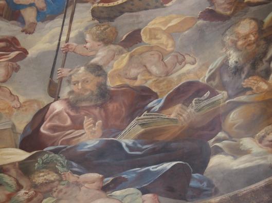 Kreuzkirche, Kuppelfresko: Jakobus der Jüngere