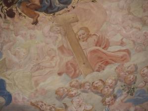 Kreuzkirche, Kuppelfresko: Jesus, um 1735