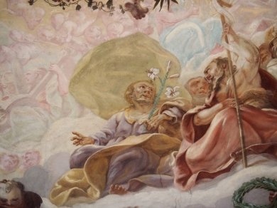 Kreuzkirche, Kuppelfresko: Joseph