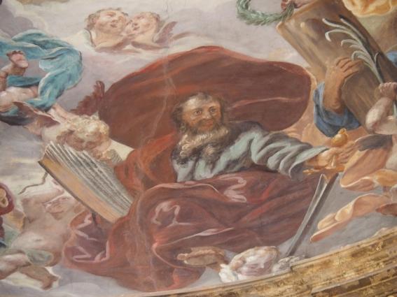 Kreuzkirche, Kuppelfresko: Paulus