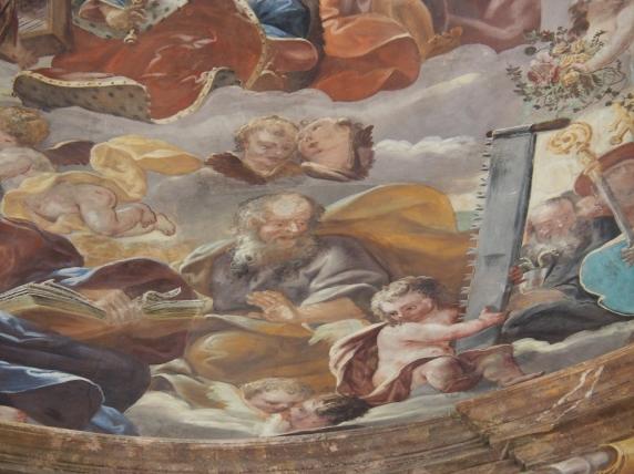 Kreuzkirche, Kuppelfresko: Simon Zelotes