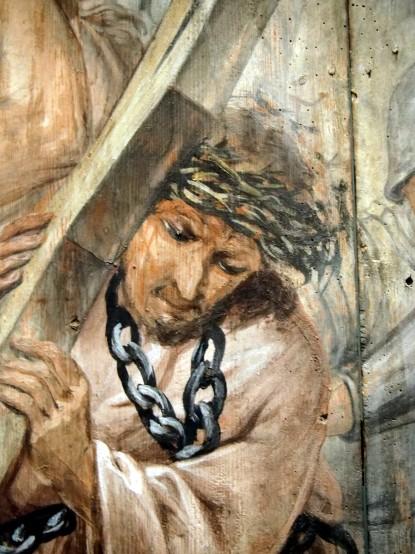 Neuzeller Passionsdarstellungen: Kreuztragung, Seifrit um 1750