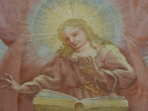 Stiftskirche, Vorhalle: Jesus im Tempel, um 1730