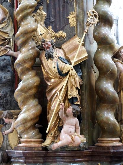 Stiftskirche, Tauf-Altar: Augustinus