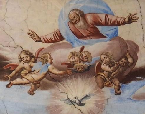 Stiftskirche, Deckenfresko: Detail der Taufe Jesu