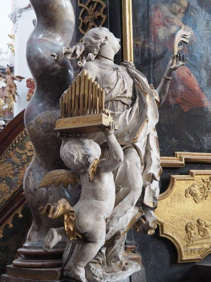 Stiftskirche, Verkündigungs-Altar: Caecilia