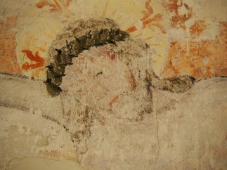 Kreuzgang, Wandmalerei Südflügel: Kreuzigung, um 1450