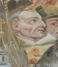 Stiftskirche, Vorhalle: Bernhard auf dem Widmungsbild