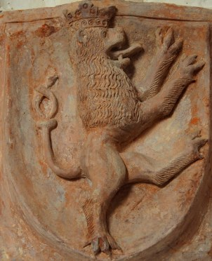 Kreuzgang, Südflügel: Böhmisches Wappen