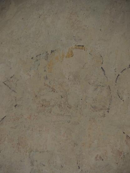 Kreuzgang, Südflügel: Mönch in der Szene Christus vor Pontius Pilatus