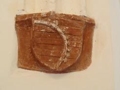 Kreuzgang, Südflügel: Kursächsisches Wappen